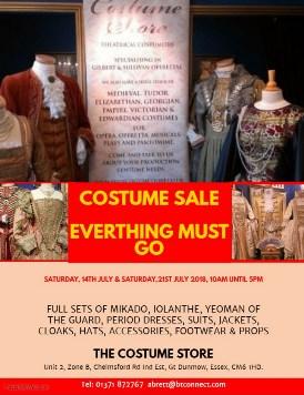 Costume Store Sale