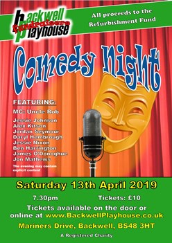 Comedy Night Fundraiser at Backwell Playhouse