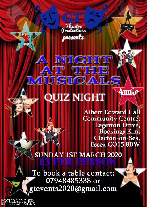 A Night at The Musicals QUIZ NIGHT