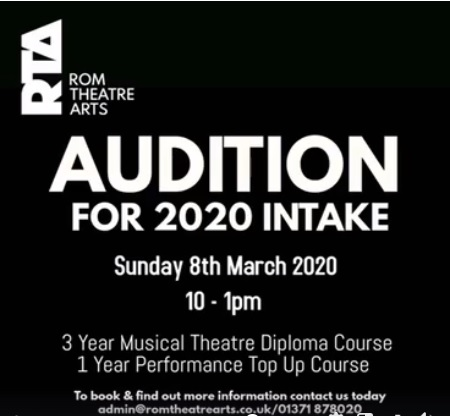 AUDITION for 2020 INTAKE