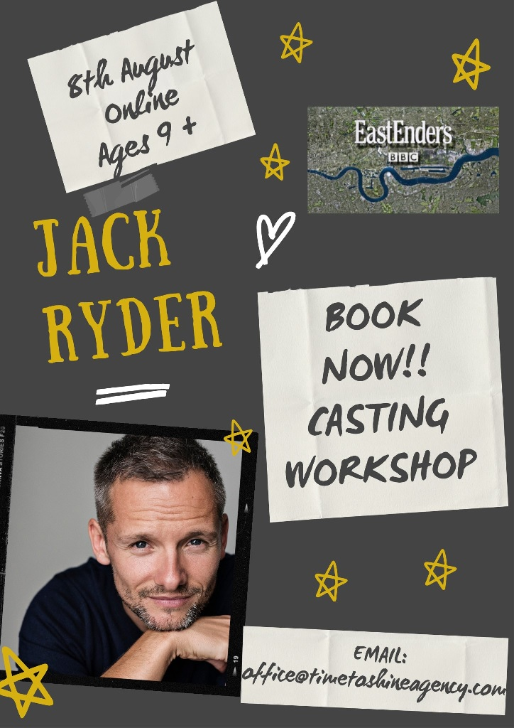 Jamie Mitchell from EastEnders (Jack Ryder) is joining us!!