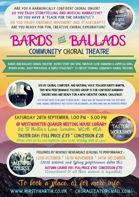 Bards and Ballads - Taster Workshop