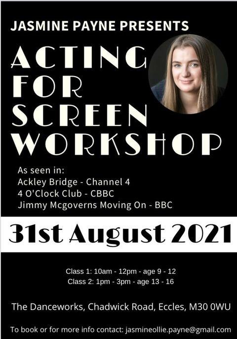 Acting For Screen Workshop