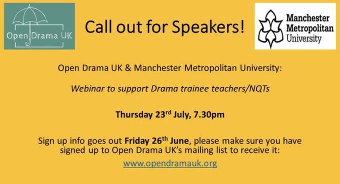 Open Drama UK & Manchester Metropolitan University