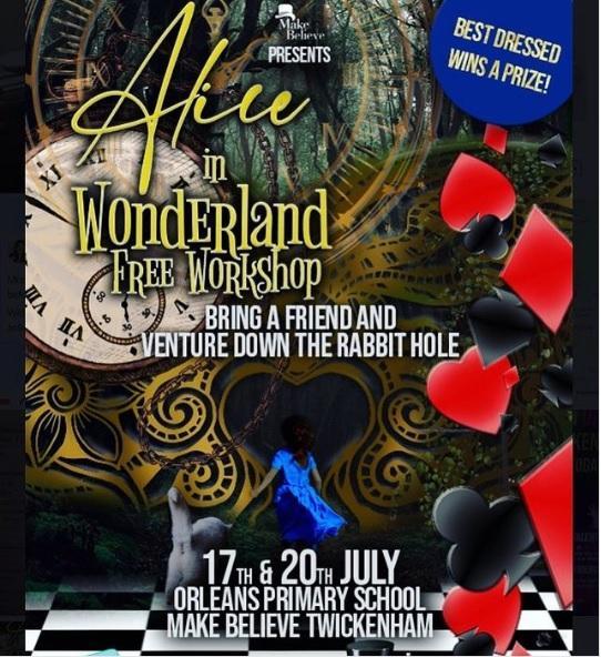 Alice in Wonderland Free Workshop