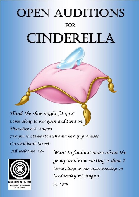 OPEN AUDITIONS FOR 'CINDERELLA'