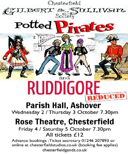 Potted Pirates and Ruddigore Reduced