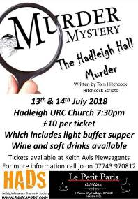 MURDER MYSTERY The Hadleigh Hall Murder