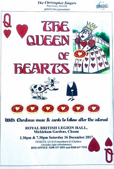 The Queen of Hearts - followed by Festive Songs and Carols