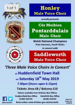 Three Male Voice Choirs in Concert