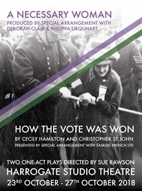 An evening of two one-act plays exploring the suffrage movement in Britain